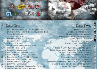 Unite for Relief CD layout (Japan)