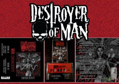 Logo, J-Card/Cassette Layout/Design for Destroyer of Man